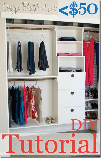 ... From Three Main Components: The Top Shelf, The Bottom Shelf, And The  Shelf/drawer System That Divides The Sides. No Matter The Size Of Your  Closet, ...