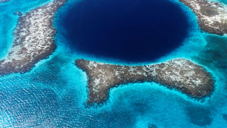 Blue Hole and reefs, Belize, Central America