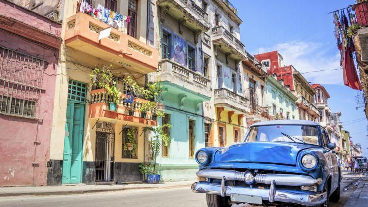 Colourful street in Havana, Cuba