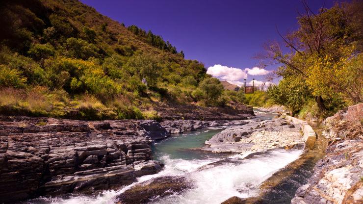 River at Madidi National Park in Bolivia.