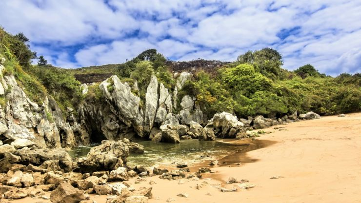 Playa de Gulpiyuri, Spain