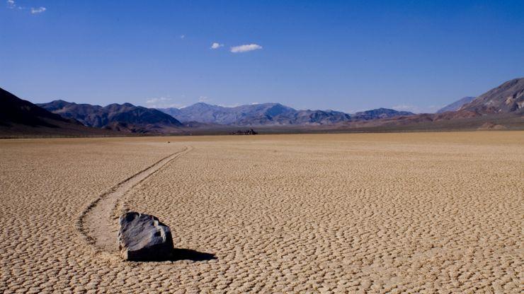 Sailing Rock at Racetrack Valley, Death Valley, California.