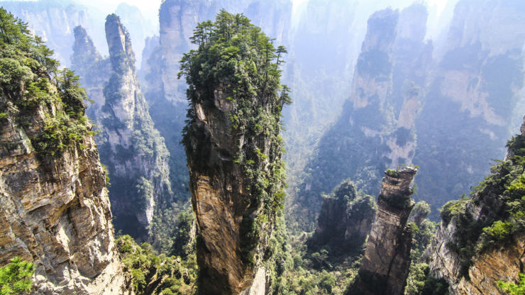 The Tianzi mountains in China